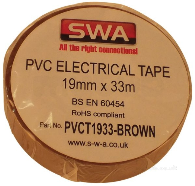 Outstanding Specialised Wiring Accesories Pvc Tape 19Mm X 33Mm Brown Swa Wiring Digital Resources Counpmognl