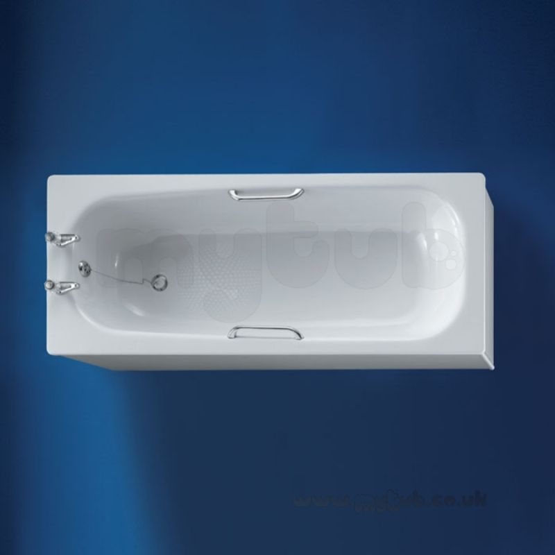 Armitage Shanks Nisa S176501 1700mm Two Tap Holes Ll Steel Bath Wh ...