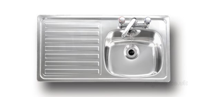 Unisink Inset Two Tap Hole Single Bowl Kitchen Sink With Left Hand ...