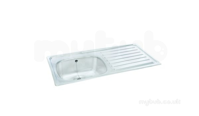 Unisink Two Tap Hole Kitchen Sink With Left Hand Single
