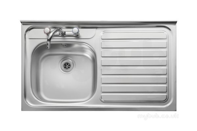 City 2 1000 X 600 Right Hand R/fr Sit-on Sink Ss : Wolseley