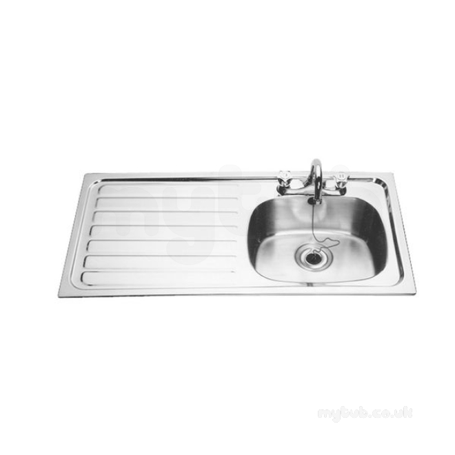 Sissons Stainless Steel Sinks : Sissons Stainless Steel Sinks - B20085l 1015x505 Lh Sb Inset Sink Ss