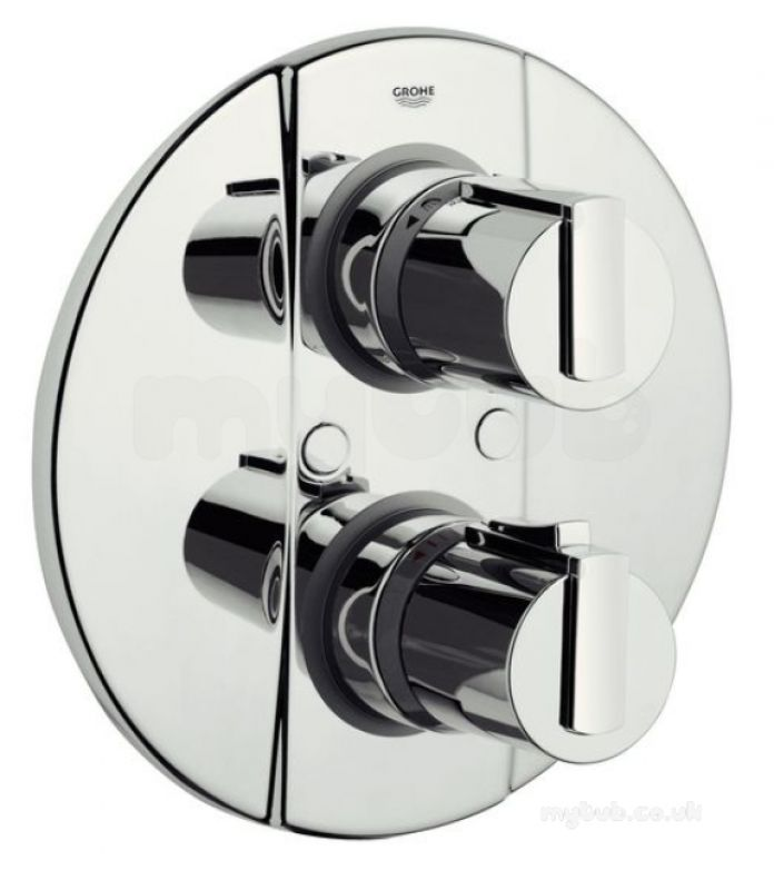 grohtherm 2000 thermostatic bath mixer with temperature. Black Bedroom Furniture Sets. Home Design Ideas