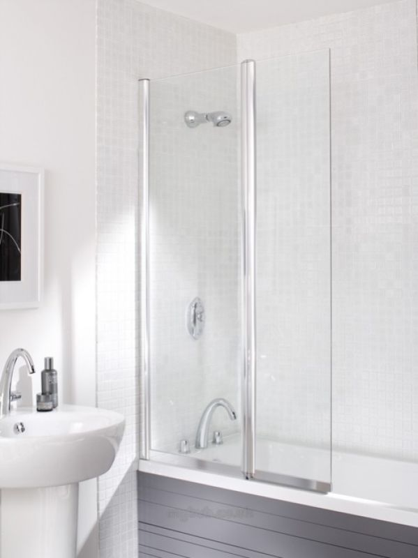052 Twin Panel Bathscreen Squ S Cl900r Daryl