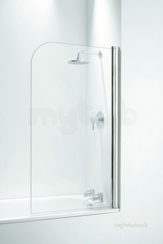 Coram 250mm Fixed Panel With Basket Chrome Plain Glass Coram