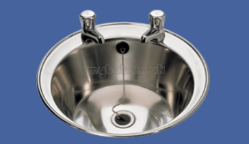Sissons Stainless Steel Sinks : Sissons Stainless Steel Products - D20170n 400mm 2th Round Washbasin ...
