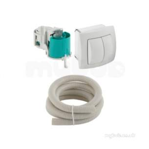 Geberit Commercial Sanitary Systems -  Hytouch Hand Push Button Dual Flush 115 942 11 1