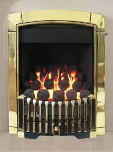 Flavel Gas Fires -  Flavel Caress Contemporary Mc Brass