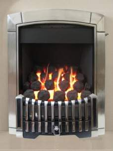 Flavel Gas Fires -  Flavel Caress Contemporary Rc Silver