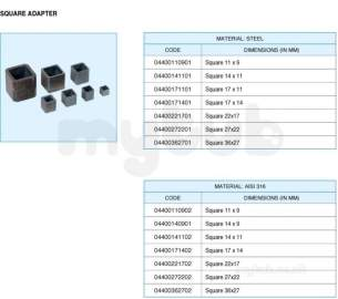 Actuator Mounting Kits -  Square Drive Adaptor 11mm To 14mm