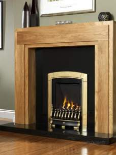 Flavel Gas Fires -  Flavel Caress S/line Mc Brass Gas Fire
