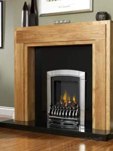 Flavel Gas Fires -  Flavel Caress S/line Sc Silver Fire Ng