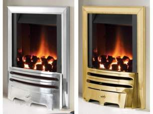 Flavel Gas Fires -  Flavel Warwick Pf Mc Cont Silver Ng