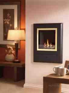 Flavel Gas Fires -  Flavel Finesse Coal Gas Fire Brass