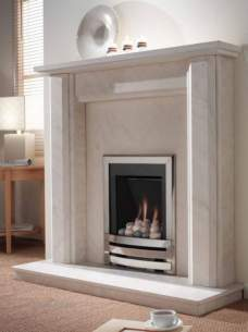 Flavel Gas Fires -  Flavel Windsor He Mc Pebble Cont Chrome