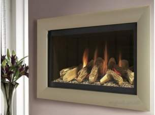 Flavel Gas Fires -  Flavel Jazz Rc Black/champagne Trim Ng