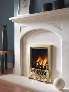 Flavel Gas Fires -  Flavel Kenilworth Pf Brass Gas Fire Ng