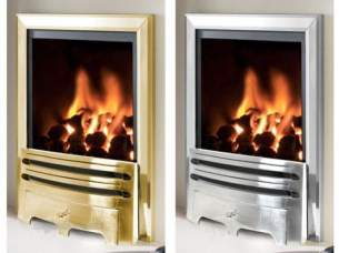 Flavel Gas Fires -  Flavel Kenilworth Pf Chrome Gas Fire Ng