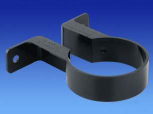 Osma Above Ground Drainage -  Osma 0t034b Black 21/2 Pipe Bracket