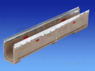 Channel Drainage -  Wavin Polychannel 100sk010 1m Slope