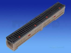 Channel Drainage -  Wavin Polychannel 100sks021 1m Flat