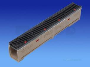 Channel Drainage -  Wavin Polychannel 100sks101 1m Flat