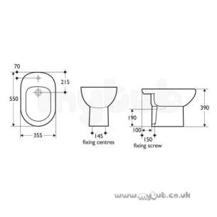 Armitage Entry Level Sanitaryware -  Armitage Shanks Montana S484001 One Tap Hole Bidet Wh-special