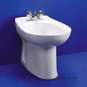 Armitage Entry Level Sanitaryware -  Armitage Shanks Tiffany S4910 One Tap Hole Btw Bidet White