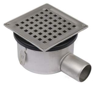 Blucher Drainage -  Blucher Square Floor Drain 2 Inch Ho/outlet