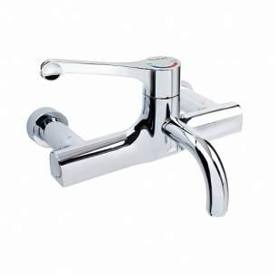 Twyfords Commercial Sanitaryware -  Sola Thermostatic Surgeons Mixer Lever Tap Wall Mounted Fixed Spout