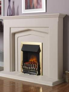 Flavel Electric Fires -  Flavel Ultiflame Trad Electric Brass