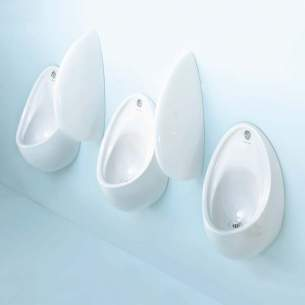 Armitage Shanks Commercial Sanitaryware -  Armitage Shanks S6120 New Urinal Division Hng And Scw Wh
