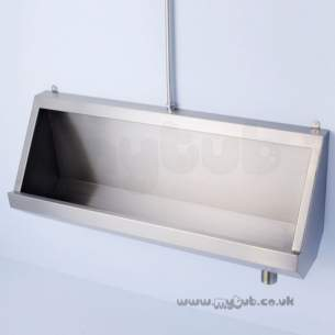Armitage Shanks Commercial Sanitaryware -  Armitage Shanks Kinloch 2 S6153 Up To 3050 Urinal Ss