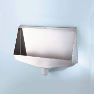 Armitage Shanks Commercial Sanitaryware -  Armitage Shanks Kinloch S6148 1800mm Waterless Urinal Ss