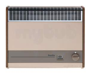 Baxi Gas Fires and Wall Heaters -  Baxi Brazilia F8s Wall Heater Ng Oak