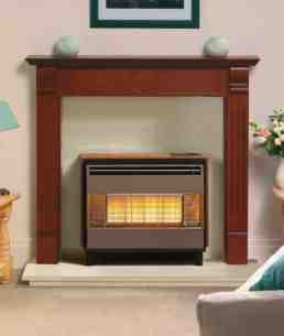 Robinson Willey Gas Fires and Wall Heaters -  Rob Willey Firegem Visa Deluxe Teak Ng