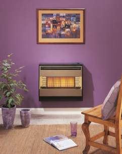 Robinson Willey Gas Fires and Wall Heaters -  R Willey Firegem Visa Highline Brown Ng