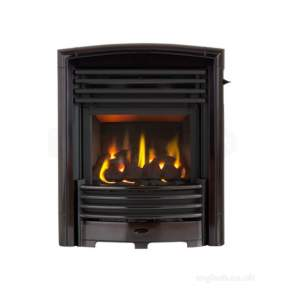 Valor Gas Fires and Wall Heaters -  Valor H/flame Petrus Black Chr Gas Fire
