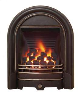 Be Modern Gas Fires -  Be-modern Abbey 120mm Coal Black