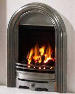 Be Modern Fires Gas and Electric -  Bm Abbey Gas Fire 120mm-fully Polish