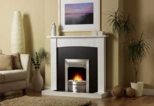 Valor Electric Fires -  Valor Teviot White Electric Suite