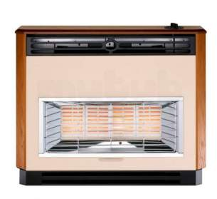 Baxi Gas Fires and Wall Heaters -  Baxi Brava 4 Oxysafe Fire Teak 0534701