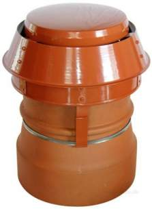 Flue Terminals and Cowls -  Midtec Maxi Cowl-brown No Mesh S/fuel