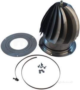 Flue Terminals and Cowls -  Midtec 150-300mm Fit Universal Roto Cowl