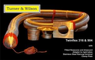 Turner and Wilson Flueliner and Packs -  T And W Multifuel Twinflex 316 Pack 5 Inch 10m