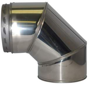 SFL Sw Chimney Flue -  Sfl Nova Sm 90 Deg Elbow 130mm 4575905n
