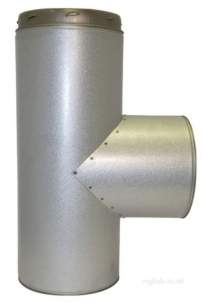 SFL Qc Chimney Flue -  Sfl Qc 8 Inch 90d Equal Tee I/p 0824308