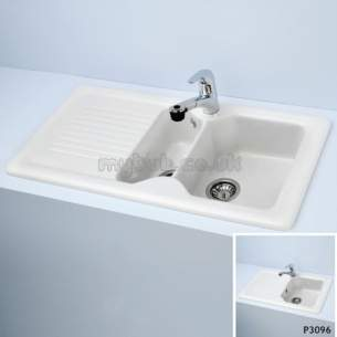 Armitage Shanks Commercial Sanitaryware -  Armitage Shanks Ceramas 860 X 500 X 190mm 1 0b Sink And Drn Wh