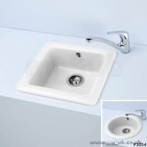 Armitage Shanks Commercial Sanitaryware -  Armitage Shanks Ceramas 470 X 470 X 190mm Sqr Bowl And Sink Wh Obsolete