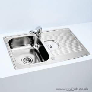 Armitage Shanks Commercial Sanitaryware -  Armitage Shanks Sandringham S0127 1.0 Bowl/sl Mixer Pack Ss